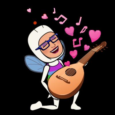 MC Fairy with a guitar